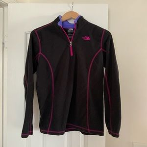 Girls north face half zip size XL